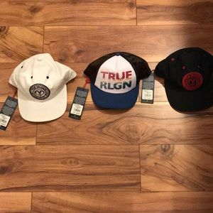 3 True Religion Hats